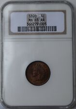 """1890 Indian Head Cent """"NGC MS65 RB"""" *Free S/H After 1st Item*"""
