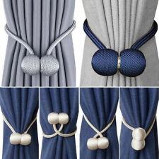 2Pcs Curtain Tie Backs Tieback Magnetic Ball Buckle Holdebacks Clips for Window
