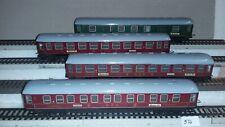 HO Trix Express   3  Schnellzugwagen  u .1 Packwagen ,siehe Bilder