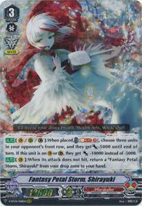 1x Cardfight!! Vanguard Fantasy Petal Storm, Shirayuki - V-BT04/008EN - RRR Near
