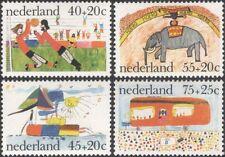 Netherlands 1976 Children's Paintings/Welfare Fund/Football/Elephant 4v (n45333)