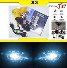 LED Kit X3 50W 9003 HB2 H4 8000K Icy Blue Head Light Two Bulbs Dual Beam Upgrade