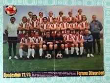 Mannschaftsbild mit Autogrammen FORTUNA DÜSSELDORF '73-Fans/Geschenk-Idee-(B107)