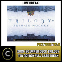 2019-20 UPPER DECK TRILOGY HOCKEY 10 BOX FULL CASE BREAK #H542 - PICK YOUR TEAM
