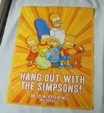 The Simpsons Family Portrait Burger King Door Window Decal Poster Sign 2008