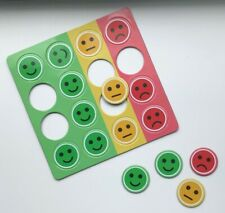 16 Fridge Magnets Faces for Reward Charts Whiteboard Notices Office School Fun!