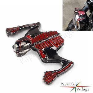 Universal 7'' Headlight Visor/Fender Skull Skeleton Ornament For Harley - Steel