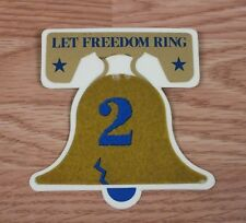 """Vintage Unbranded """"Let Freedom Ring 2"""" Collectible Gold Bell Pin / Brooch *Read*"""