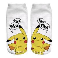 Pokemon Go Pikachu Character Sock Pocket Monsters Women Kid Socks Gift