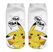 Pokemon Go Pikachu Character Sock Pocket Monsters Kid Socks  utility