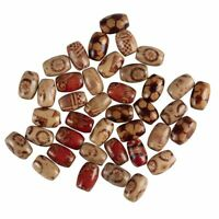Wood Beads, Around 600 Pcs Natural Painted Oval Barrel Beads for Jewelry Making