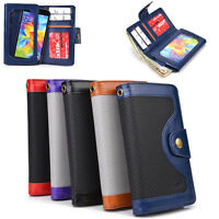 Unisex Protective Smart Phone Wallet Case w/ Built In Screen Protector SMENBA-10