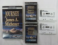 JOURNEY - 2 Cassettes Audio Books - by James Michener read by David McGallum