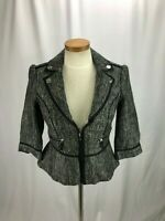 White House Black Market Women's Gray Wool Blend Blazer 2
