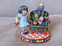 "Vintage Enesco Mary Engelbreit ""Life is Just a Chair of Bowlies"" 1998"