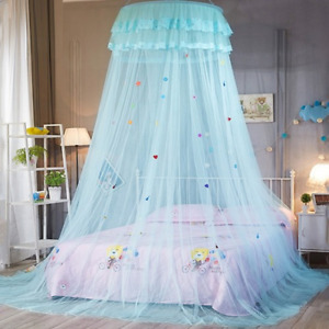 Round Lace Bedcover Curtain Dome Bed Canopy Princess Mosquito Net Hanging Kids