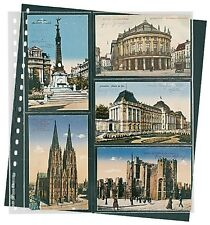 Lindner Klarsichthüllen für Postkarten, 272x296mm, 18-Ring-Loch 10er Pack (826P)