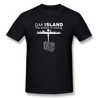 Men's The Curse of Oak Island Treasure Chest Season 6 Mystery T Shirt Black