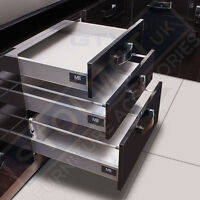 White Soft Close Kitchen Drawer Runners System Modern Box MB LIKE BLUM AllSizes