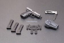 1/6 Scale ZERT AMG Sully Sig P220 Pistol with CQC Holster and Knife Set