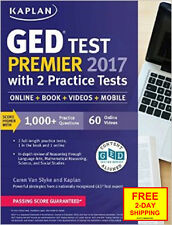 GED Test Premier 2017 with 2 Practice Tests: Online + Book + Videos + Mobile (Ka