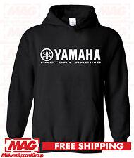 YAMAHA FACTORY RACING BLACK HOODIE YZF R1 R6 YFZ BANSHEE Moto Hooded Sweatshirt