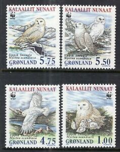 Greenland #344-347 MNH CV$7.35 WWF Owls [STOCK IMAGE]