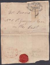 1833? deux PY post pour non-Paiement Holburn Hill; 8 O 'CLOCK........... Marques postales par SCANS