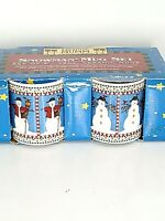 Sweet Set of 4 NOS Debbie Mumm 12oz Coffee Christmas Mug Snowmen 1998 Snowman