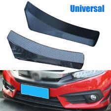 Universal Car Carbon Fiber Look Front Bumper Lip Chin Spoiler Splitter 35*10cm