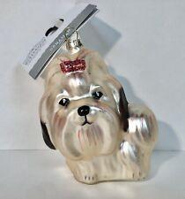 Shih Tzu or Lhasa Apso Dog Glass Christmas Ornament Wondershop