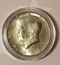 1964 JFK Kennedy Silver Half Dollar BU 90% Silver US Coin (In Capsule)