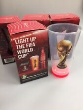 4 x Budweiser Plastic light up cup ( world cup collectors cup )
