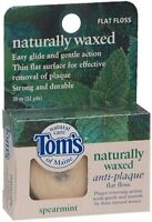 Tom's of Maine Naturally Waxed Anti-Plaque Flat Floss Spearmint 32 Yards