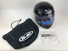NEW IN BOX HJC CS-Y Youth motor cycle Helmet.  LXL 6 3/8-6 1/2, 52 cm  Black