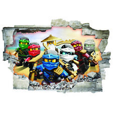 3D LEGO NINJAGO Wall Sticker Vinyl ART Buco nel Muro A4