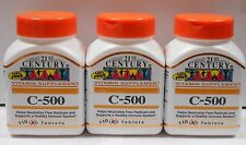 21st Century Vitamin C 500mg Tablets 110ct -3 Pack (330 Total Tablets)