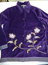WOMENS purple velvet JACKET BLAZER = JESSICA HOLBROOK = SMALL - ss20