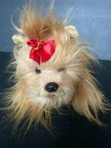 "Russ Yomiko Yorkshire Terrier Plush Realistic Stuffed Animal ""15"
