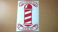 12inch red barbers pole shop sign window doors salon barber vinyl sticker decal