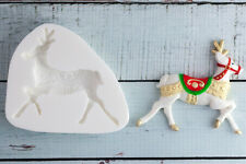 Silicone Mould, Decorative Christmas Reindeer Food Grade Ellam Sugarcraft M101