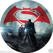 Eßbar Tortenaufleger Superman vs Batman Deko backen Muffin NEU Tortenbild dvd