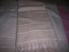Cottage Chic PINK BLUSH large Shabby BATH TOWEL with knotted fringe