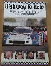 2015 Fifty Plus Racing Bmw Dp Brian Johnson Ac/Dc Rolex 24 Tusc 4x6 postcard