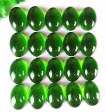 20Pcs Delicate Green Hydrotherdal Crystal Oval Cab Cabochon 14*10*5mm B5176