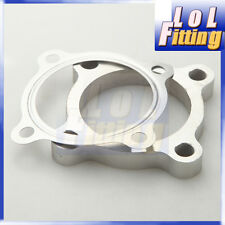 """2.5"""" 4 Bolt SS304 Turbo Exhaust Downpipe Flange + Gasket T3 50AR T3/T4 GT35 T3"""