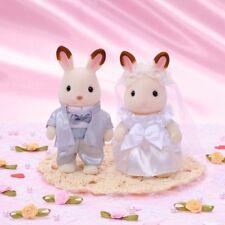 Nice Wedding Pair Set Of Sylvanian Families Chocolate Rabbit F/S /C1
