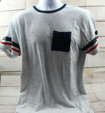 Pre-owned White Blue Dotted American Garage Large Pocket Shirt