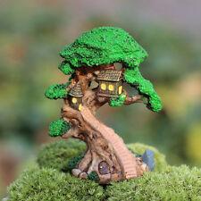 1Pcs Garden Ornament Miniature Old Tree Figurine Craft Plant Pot Fairy Decor Diy