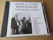 HENRI & CLAIRE HONEGGER RECITAL CELLO PRIVATE SWISS CD MEGARARE ONLY 50 MADE OSR